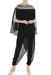black-georgette-pearl-embroidered-pleated-blouse-with-black-satin-lyra-dhoti-pants