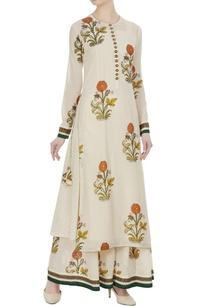 ivory-floral-printed-muslin-kurta-set
