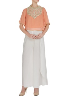 peach-georgette-gota-embroidered-blouse-with-crepe-pants