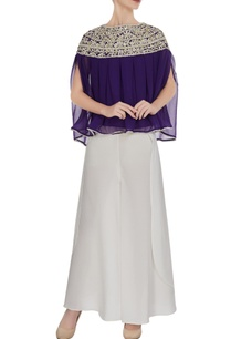 navy-blue-georgette-gota-embroidered-pleated-blouse-with-crepe-pants