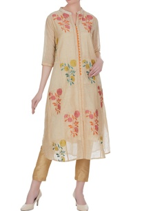 jute-chanderi-banarasi-thread-embroidered-floral-kurta
