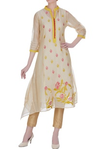 chanderi-floral-embroidered-kurta