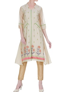 chanderi-floral-thread-embroidered-kurta
