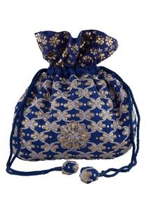blue-silk-mukaish-thread-hand-embroidered-potli