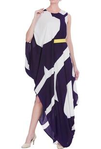 hand-painted-draped-dress