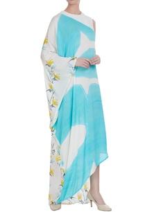 nautical-block-printed-draped-dress