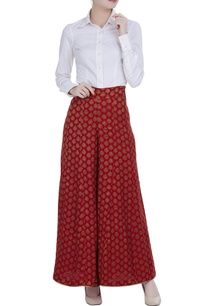 flared-palazzos-with-floral-brocade-work