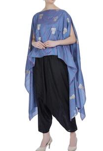 check-pattern-brocade-silk-cape