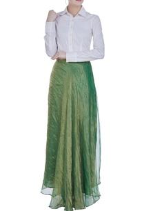 tissue-woven-flared-skirt