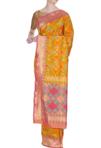 woven-banarasi-silk-saree-with-unstitched-blouse