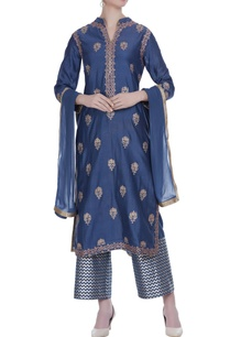 chanderi-badla-embroidered-kurta-set