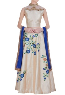 floral-print-lehenga-with-embroidered-blouse-dupatta