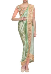 sea-green-peach-embroidered-dhoti-sari