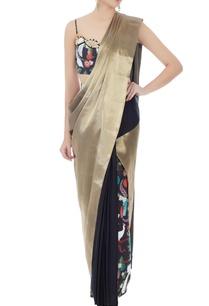 gold-italian-jersery-brocade-tailored-sari