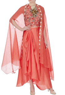 light-brick-raw-silk-persian-dori-embroidered-blouse-with-skirt-and-bel-embroidered-cape