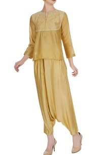 chanderi-top-with-dhoti-pants