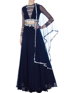 navy-blue-embroidered-lehenga-with-blouse-dupatta