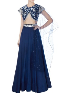 navy-blue-sequin-embellished-lehenga-with-blouse-dupatta