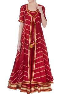 deep-red-mullmull-gotta-patti-anarkali-with-jacket