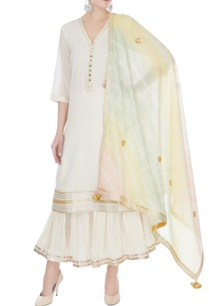 ivory-white-cotton-mullmull-gotta-patti-kurta-with-sharara-dupatta