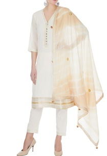 ivory-cotton-mullmull-gotta-patti-kurta-with-pants-dupatta
