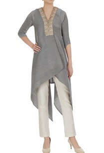asymmetric-embroidered-placket-tunic