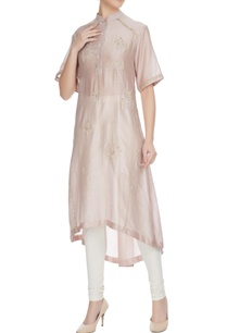 champagne-sequin-bead-hand-embroidered-floral-kurta