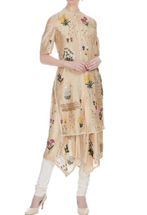 sand-beige-floral-embroidered-kurta