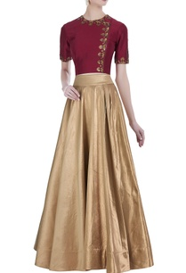 embroidered-blouse-and-flared-lehenga-skirt