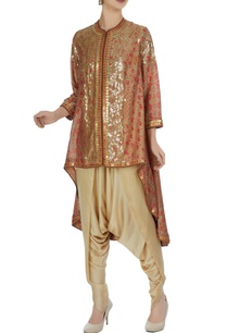 printed-gold-sequin-embroidered-jacket-with-dhoti-pants