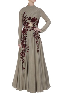 grey-sequin-thread-embroidered-yoke-anarkali-gown