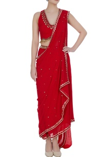 sequin-embroidered-pre-draped-sari-with-halter-blouse