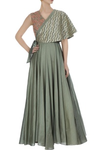 sea-salt-grey-embroidered-anarkali-with-tie-up-cape