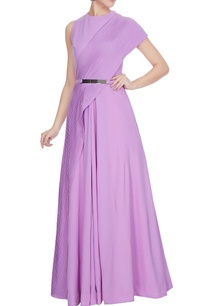lilac-georgette-gown-with-attached-pleated-drape