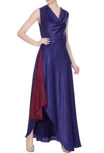blue-maroon-satin-cowl-neckline-gown-with-slit