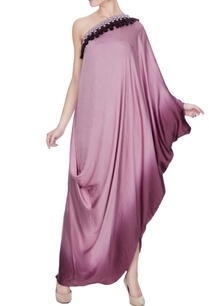 lilac-purple-satin-one-shoulder-tassel-draped-gown