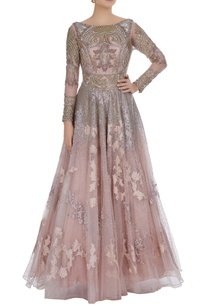 antique-gold-embroidered-flared-gown