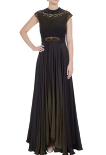 metal-coil-embroidered-gown-with-asymmetric-hemline
