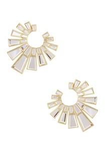 white-angel-dust-orange-peel-mirror-earrings