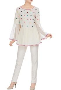 kota-doria-flared-sleeves-angrakha-blouse