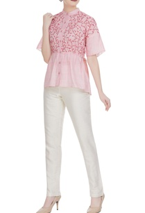 leaf-applique-kota-doria-button-down-shirt