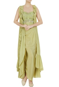 mint-green-embroidered-bustier-with-dhoti-skirt-ruffle-jacket
