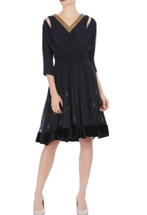 black-georgette-embroidered-dress