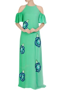 mint-green-sequin-embroidered-cold-shoulder-gown