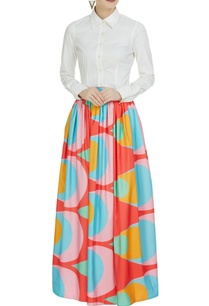 multi-colored-printed-flared-skirt