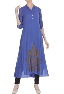 blue-mullmull-gold-butta-embroidered-long-tunic