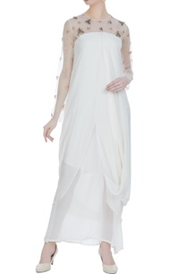 white-chiffon-net-bead-embroidered-draped-style-gown