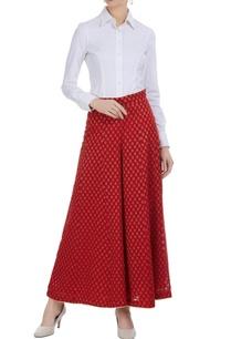 red-brocade-palazzo-pants