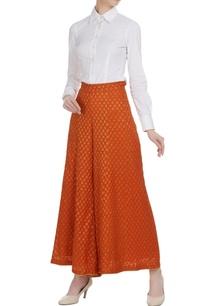 burnt-orange-brocade-georgette-sharara-pants