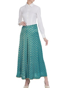 blue-brocade-georgette-woven-palazzos
